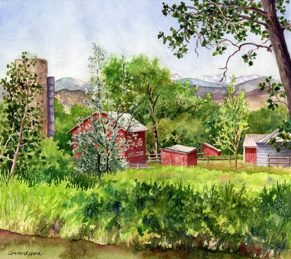 Painting - Hidden Farm by Anne Gifford