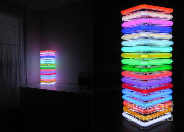 Sculpture - Hidden Inside The Stacks Of Light by Kasey Jones