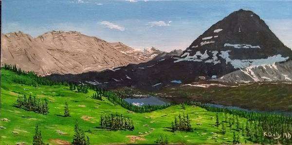 Painting - Hidden Lake Pass by Kevin Daly