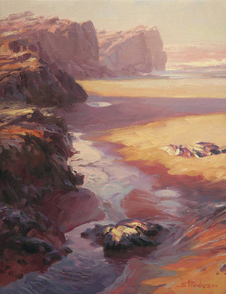 Coast Painting - Hidden Path To The Sea by Steve Henderson