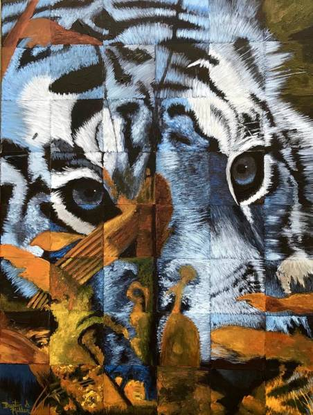 Painting - Hidden Tiger by Dustin Miller