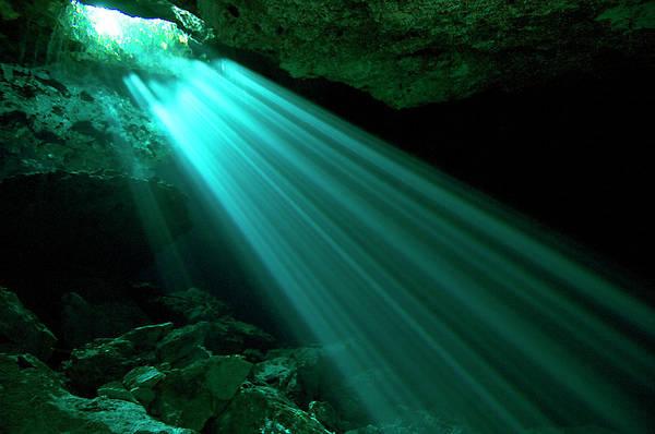 Scuba Diving Photograph - Hidden Worlds Cenotes, Yucatan Mexico by Jens Kuhfs