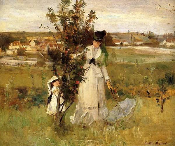 Seek Painting - Hide And Seek - 1873 - Pc by Berthe Morisot