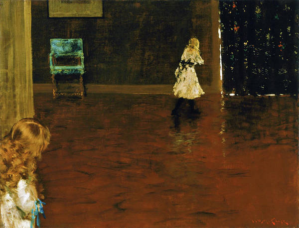 Wall Art - Painting - Hide And Seek - Digital Remastered Edition by William Merritt Chase