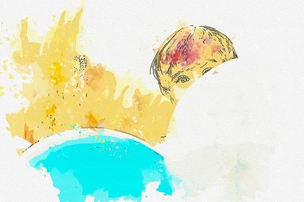 Wall Art - Painting - Hide And Seek -  Watercolor By Adam Asar by Adam Asar