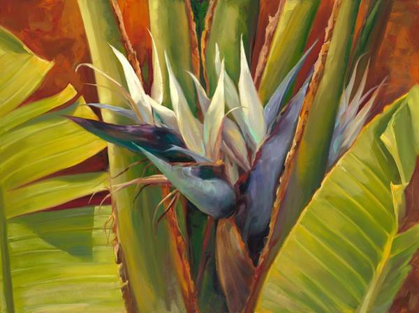 Bird Of Paradise Painting - Hide Out by Laurie Snow Hein