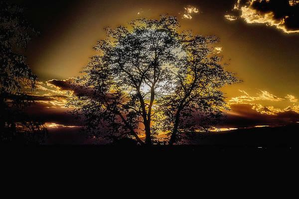 Photograph - Hiding Sun by Wolfgang Stocker