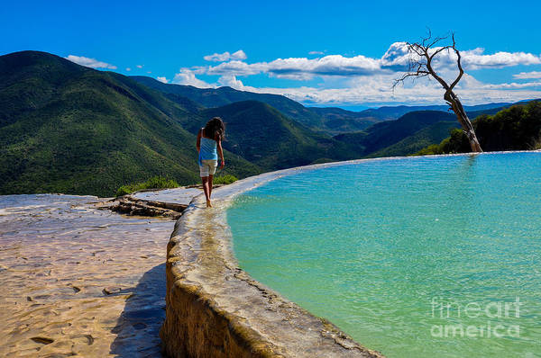 Swimming Pool Wall Art - Photograph - Hierve El Agua, Oaxaca, Mexico by Hugo Brizard - Yougophoto