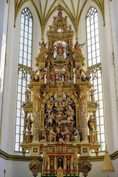 Wall Art - Photograph - High Altar Basilica Of St Ulrich And Afra Augsburg Swabia Bavaria Germany by imageBROKER - Martin Siepmann