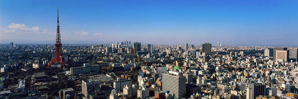 Wall Art - Photograph - High Angle View Of A City, Tokyo, Japan by Panoramic Images