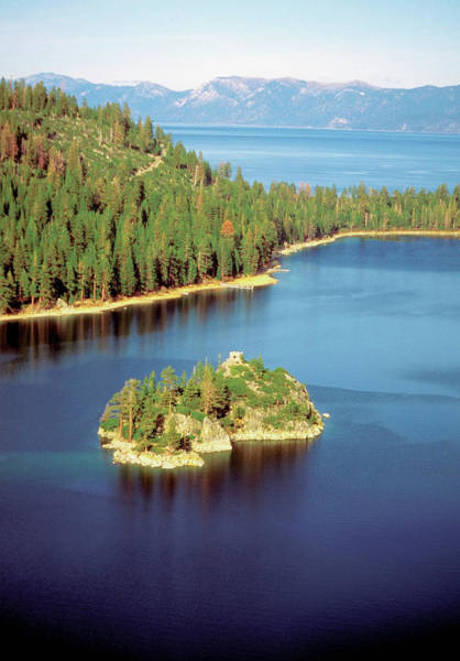 Lake Tahoe Photograph - High Angle View Of Emerald Bay, Lake by Medioimages/photodisc