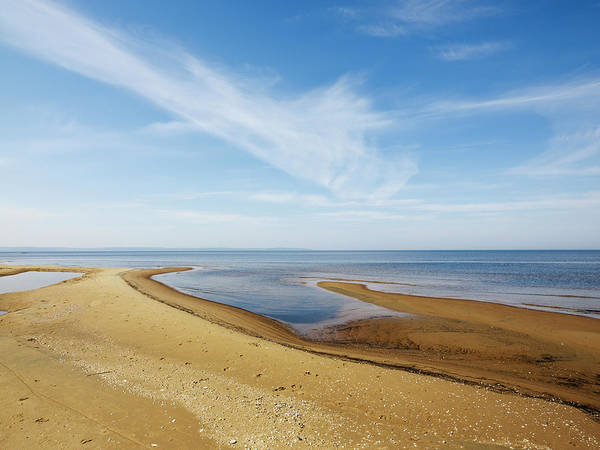 Skane Photograph - High Angle View Of Sandy Beach by Johner Images
