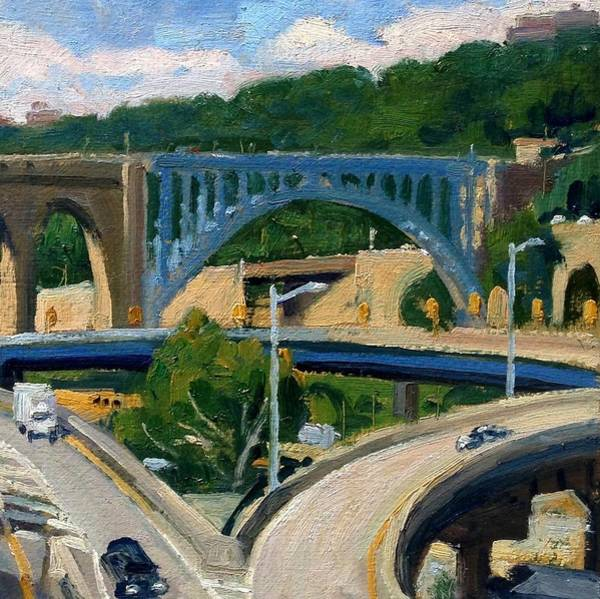 Painting - High Bridge Nyc Summer Morning by Thor Wickstrom