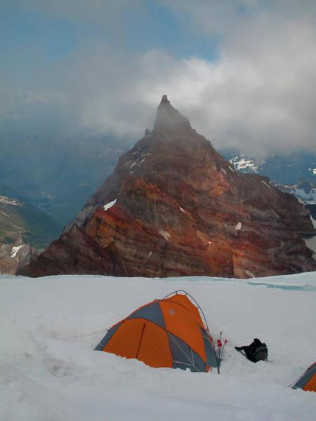 High Camp On Mount Rainier Art Print