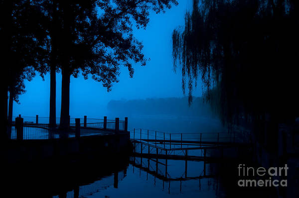 Wall Art - Photograph - High Contrast, Beijing Deserted Lake At by Diego Vargas Nasser