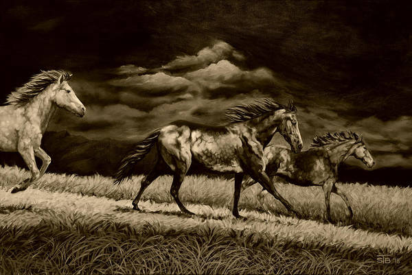 High Jump Painting - High Country Dapples Umber Version by Jump Art