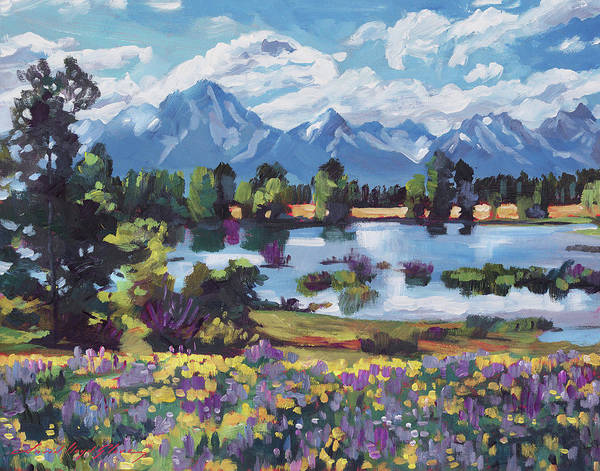 Painting - High Country Wildflowers by David Lloyd Glover