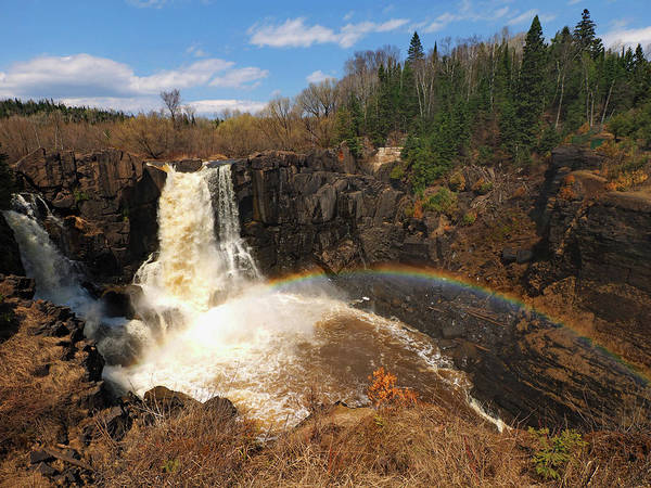 Photograph - High Falls Rainbow by James Peterson