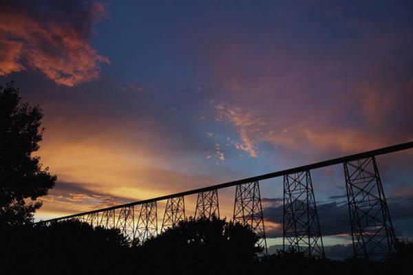 Lethbridge Photograph - High Level Bridge On Canadian Pacific by Ron Bouwhuis / Design Pics