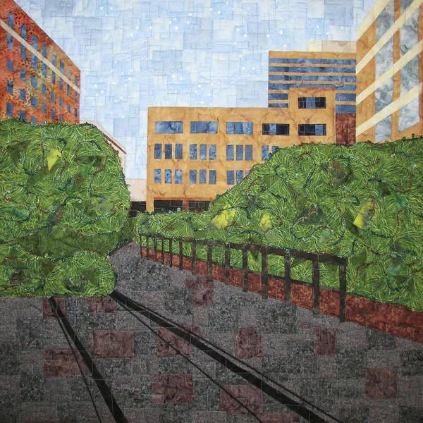 Tapestry - Textile - High Line In New York City by Pam Geisel