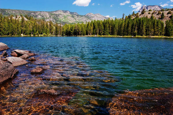 Wind River Range Wall Art - Photograph - High Mountain Lake In The Rockies by Mark Miller Photos