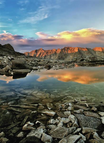 Photograph - High Mountain Sunset by Leland D Howard