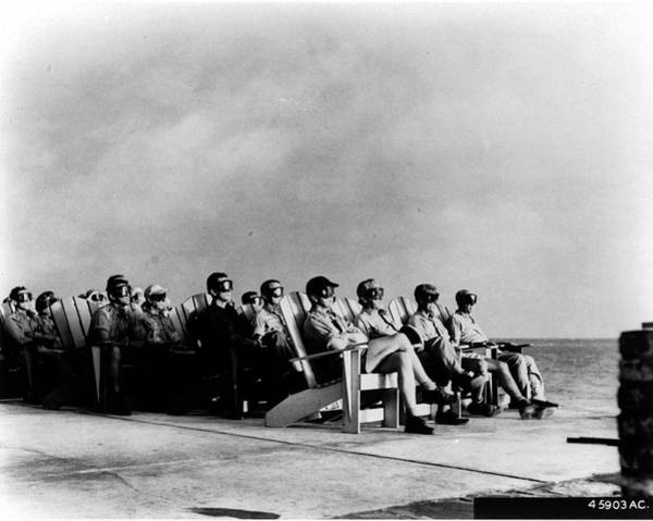 Occupation Photograph - High Ranking Military Personnel Sitting by Time Life Pictures