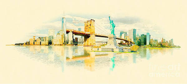 Wall Art - Digital Art - High Resolution Panoramic Water Color by Trentemoller