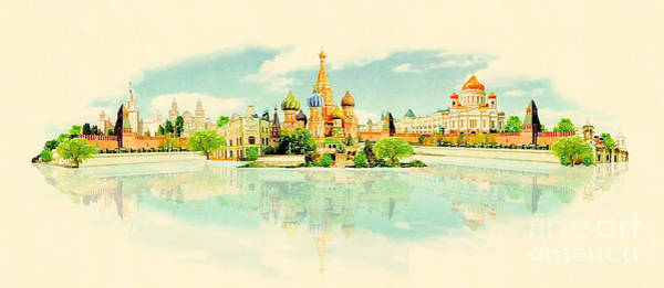 Wall Art - Digital Art - High Resolution Panoramic Watercolour by Trentemoller