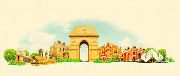 Monuments Digital Art - High Resolution Water Color by Trentemoller