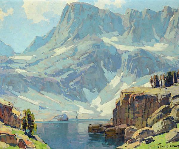 Wall Art - Painting - High Sierra Lake by Edgar Payne