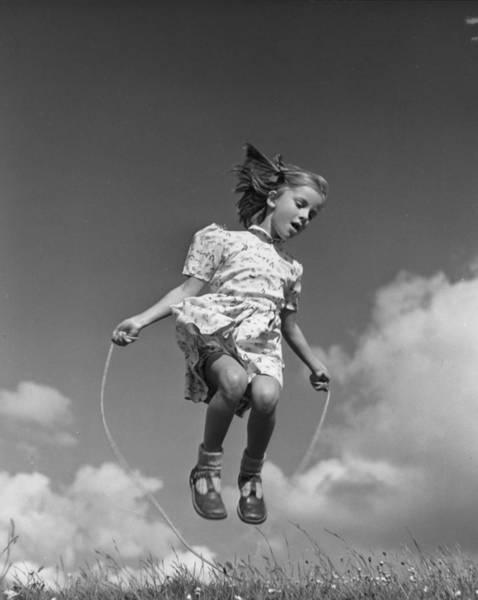 Carefree Photograph - High Skips by Raymond Kleboe