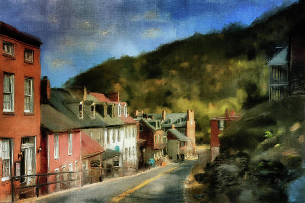 Old Town Digital Art - High Street In The Early Evening by Lois Bryan