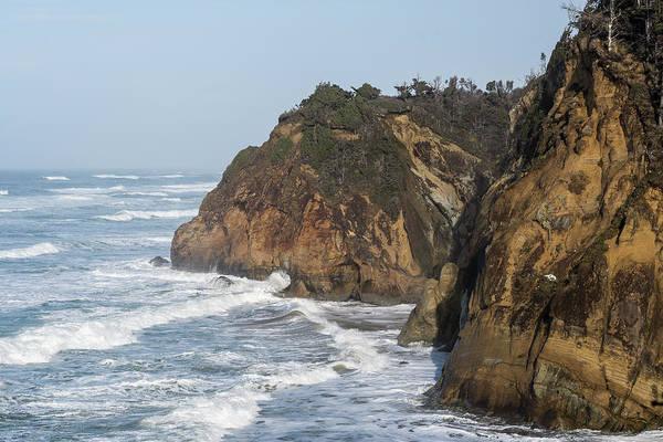 Photograph - High Surf At Hug Point by Robert Potts