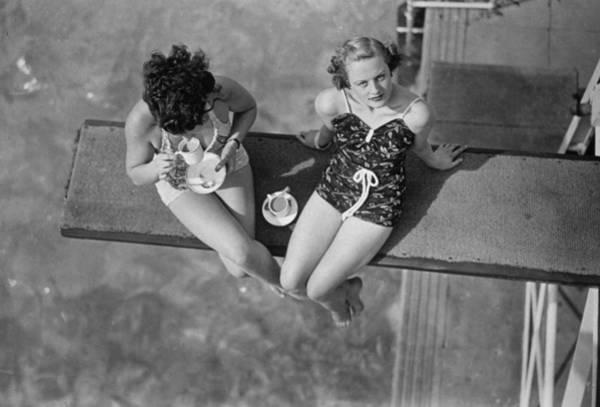 Diving Board Photograph - High Tea by J A Hampton