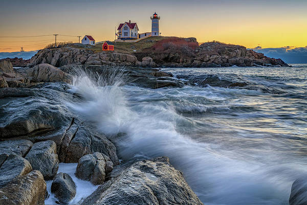 Photograph - High Tide At Cape Neddick December 2018 by Rick Berk