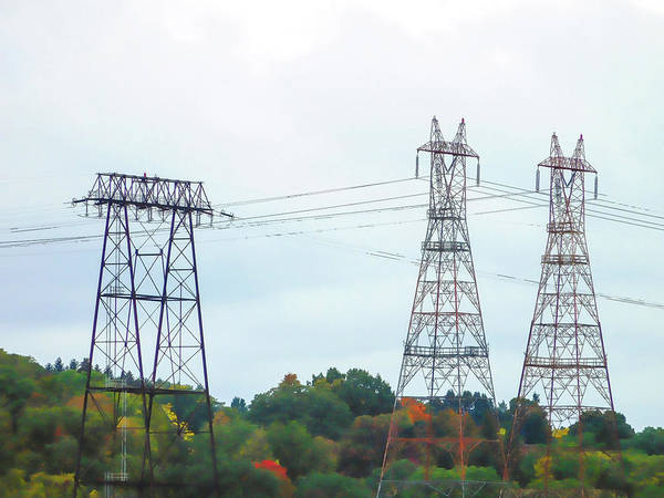 High-voltage Power Transmission Towers  2 Art Print