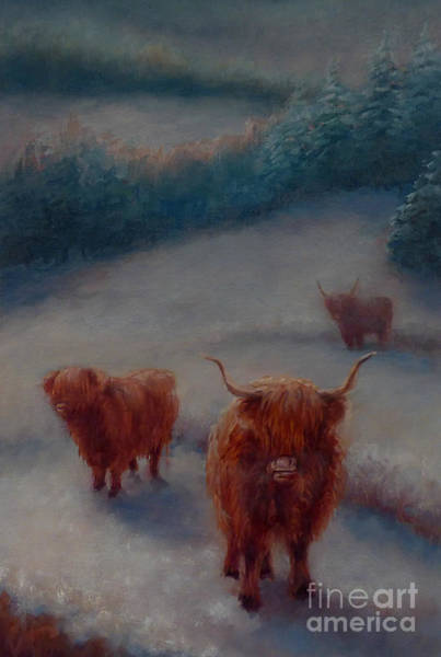 Painting - Highland Cattle, 2018 by Lee Campbell