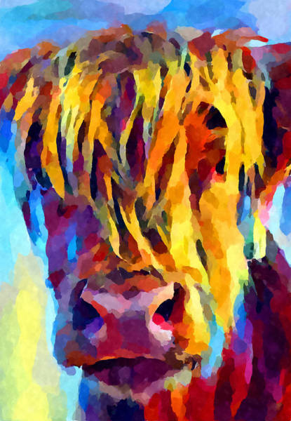 Yak Painting - Highland Cow 5 by Chris Butler