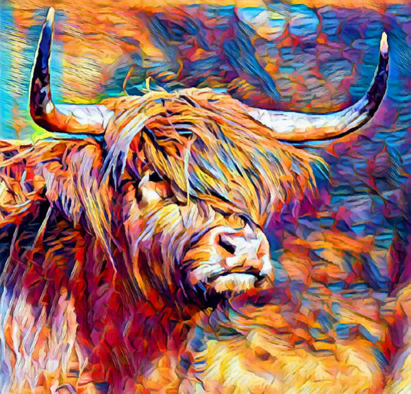 Yak Painting - Highland Cow 6 by Chris Butler