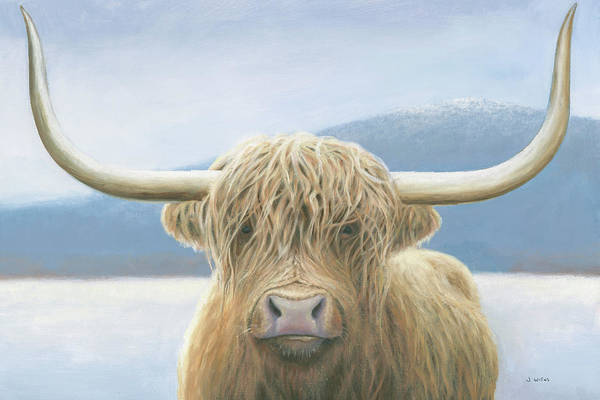 Wall Art - Painting - Highland Cow by James Wiens
