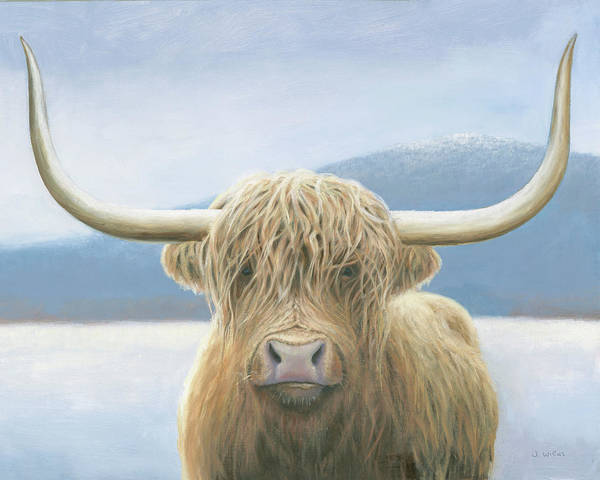 Wall Art - Painting - Highland Cow V2 by James Wiens