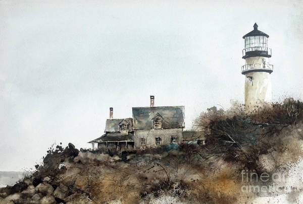 Painting - Highland Lighthouse by Monte Toon