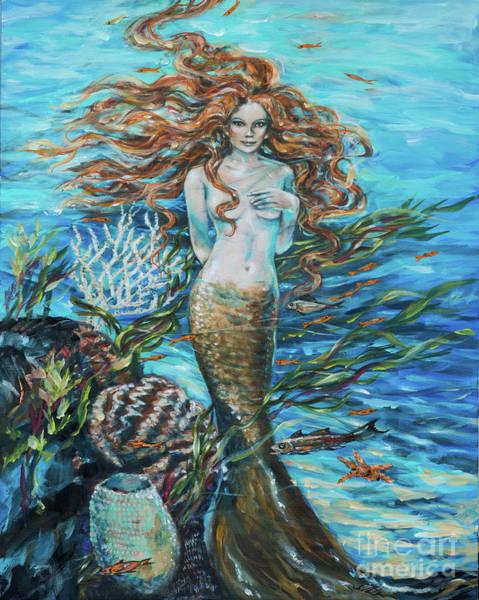 Painting - Highland Mermaid by Linda Olsen