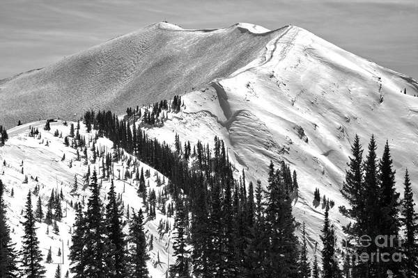 Photograph - Highland Peak At Aspen Highlands Black And White by Adam Jewell