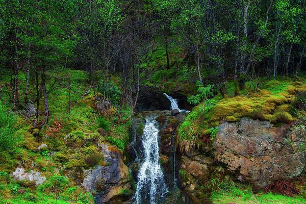 Photograph - Highland Waterfall - Glen Coe Scotland by Bill Cannon