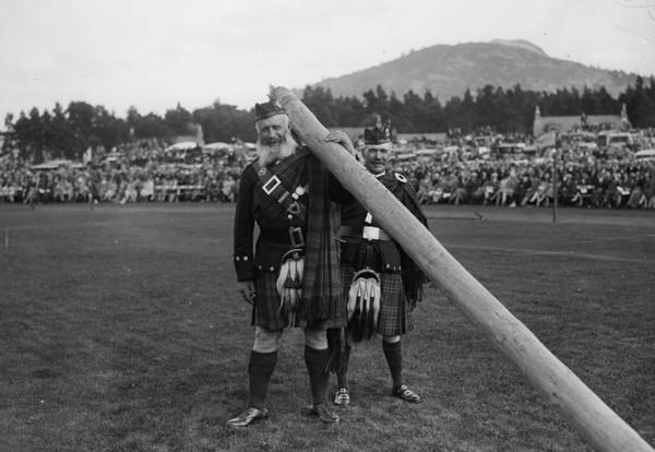 Braemar Photograph - Highlanders by Fox Photos