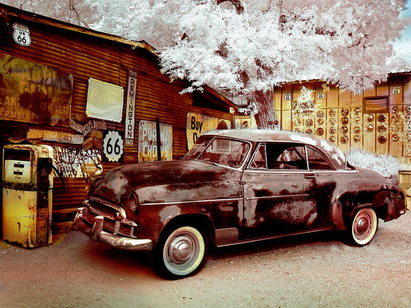 Digital Art - Highsmith Old Car by Robert G Kernodle