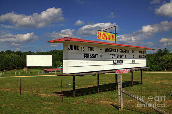 Wall Art - Photograph - Highway 21 Drive-in Theater by Larry Braun