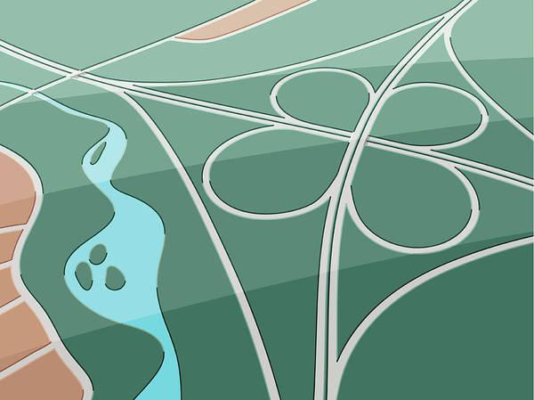 Description Digital Art - Highway Clover by Frankramspott